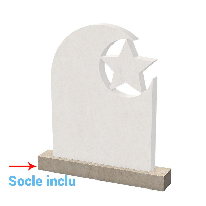PIERRE-DE-CHAUVIGNY-Stele-funéraire-musulman-ST0724-socle-inclu