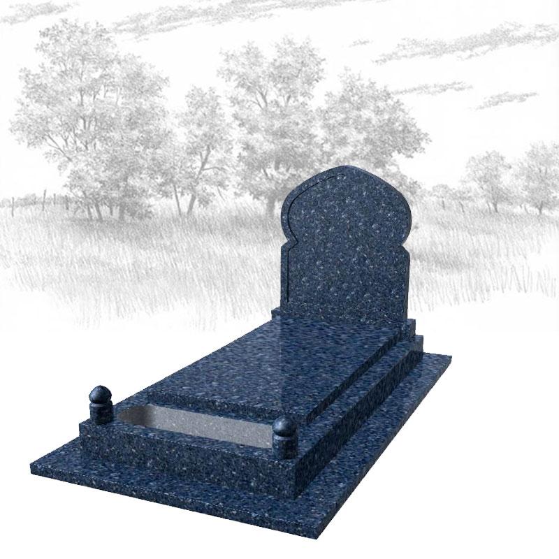 LABRADOR BLEU-Monument-funéraire-musulman-725J01R-avec-semelle
