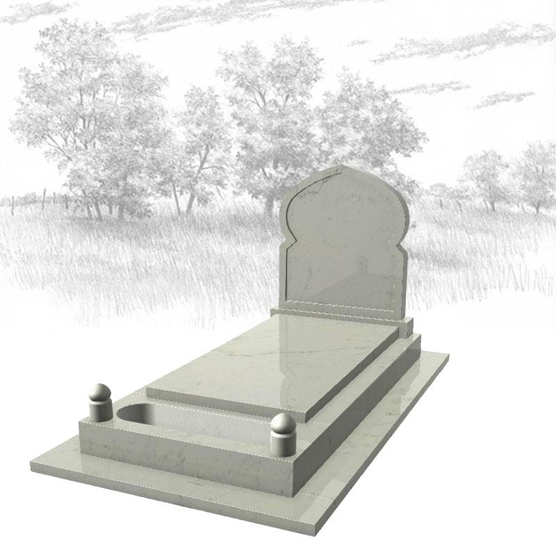 MARBRE BLANC-Monument-funéraire-musulman-725J01R-avec-semelle