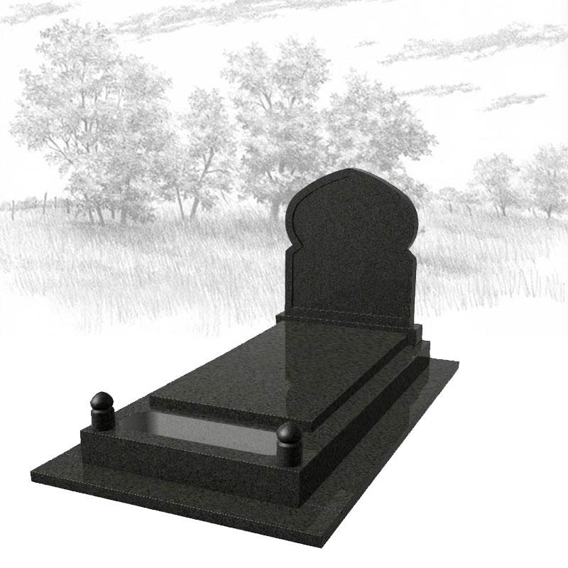 NOIR IMPALA-Monument-funéraire-musulman-725J01R-avec-semelle